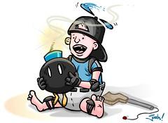 Baby Stryker (Question Josh? - SB/DSK) Tags: baby illustration flash bomb vector mortalkombat mortal kombat styker