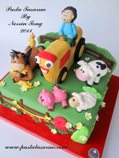 THE FARM CAKE - DENIZ 2ND BIRTHDAY CAKE