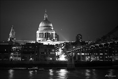 St. Paul & Millennium Bridge (n&s I Photography) Tags: street city uk bridge light sky people blackandwhite bw white black building cute london art history love clock church monument water thames architecture night d50 river puente hope idea freedom noche photo calle big arquitectura nikon flickr cityscape arch peace dof arte place cathedral live space air negro edificio creative dream ciudad paisaje bn we reflect cielo londres british moment conceptual arco campanario támesis espacio tamesis nahikarisergio