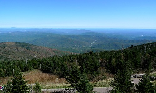 View from top of Mount Mitchell - NC