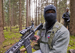 Scanning the forest (U.S. Army Europe Images) Tags: military jackson multinational usarmyeurope opfor bumgardner opposingforces 173rdairbornebrigadecombatteam fste fullspectrumtrainingevent