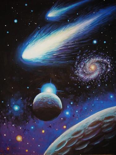 Peisaj Cosmic cu comete