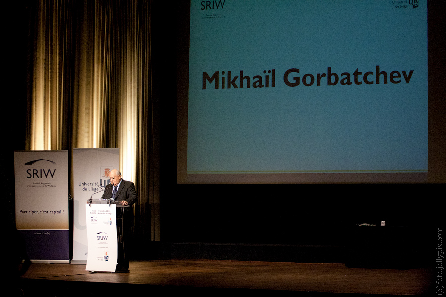Mikhail Gorbachev lection in University of Liege