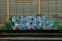 Roach (A & P Bench) Tags: train bench graffiti canadian graff railfan freight rollingstock fr8 benching