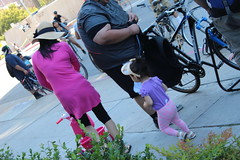 Mother and Daughter at CicLAvia