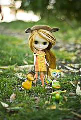 Beatrice playing with her Woodland Friends