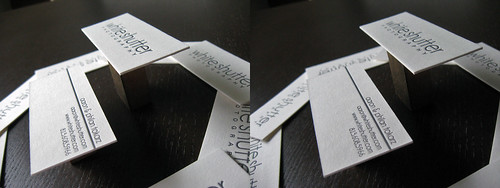 White Shutter Business Cards