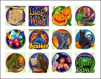 free Lucky Witch slot game symbols