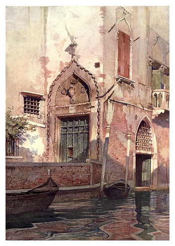 016-Un canal en Venecia- Reginald Barratt-The old Water-Colour Society-1905-Charles Holme