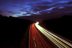 Motorway Light Trails (Paul J Chapman Photography) Tags: lighttrails m3 getpushed