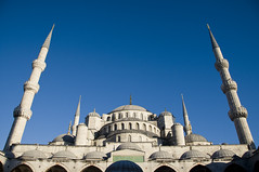 Sultan Ahmet Mosque, Istanbul (Brave Lemming) Tags: architecture turkey wonder asia europe islam trkiye towers istanbul mosque adventure bluemosque touring biketour minarets sultanahmet mosque worldtravel bicycletour mosquebleue westernturkey bravelemming