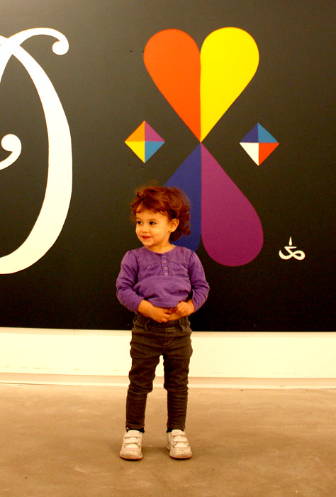 Julia in front of my mural. CMA museum. NY, USA
