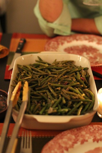Haricot verts with shallots and lemon butter