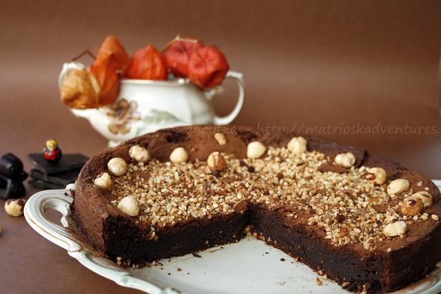 immagini foto torta cremosa al cioccolato fondente
