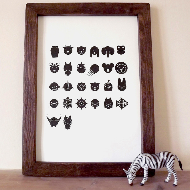 Animal Alphabet - Framed