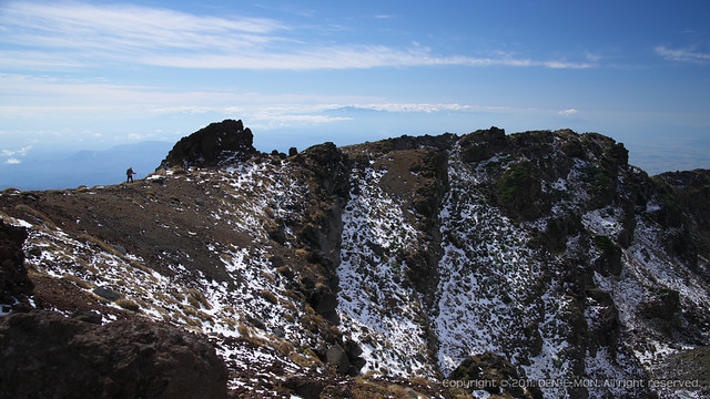 The ridge of Mt. Chokai at first snow day, 2011. #3