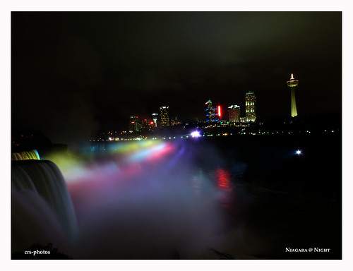 Niagara at Night by crsphotos