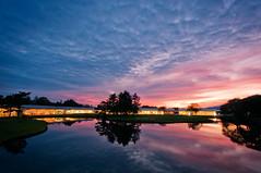 Prince Plaza Sunset (Dave Shiel) Tags: sunset lake reflection japan nikon karuizawa nagano d300 nikond300 princeplaza princeplazeshoppingmall