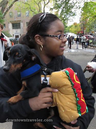 Tompkins Park Halloween Dog Parade_Dachshund hot dog