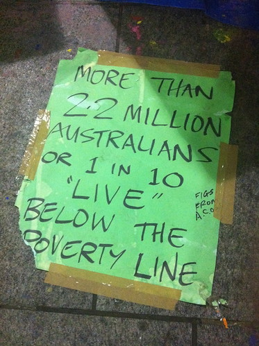 Occupy Sydney - 1 in 10 Australians in poverty