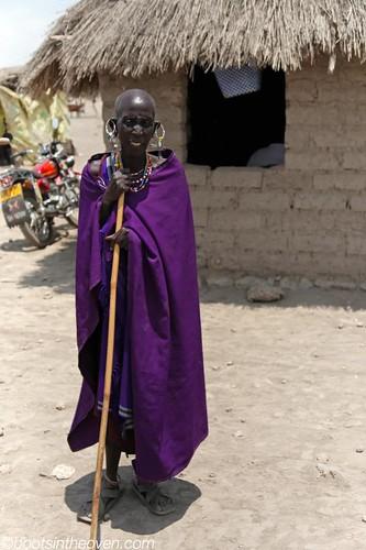 Maasai lady posing