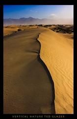 Dune in a Pinch (Ted Glazer: Vertical Nature Photography) Tags: hot sand desert dune deathvalley arid deathvalleynationalpark mesquitedunes tedglazer verticalnature