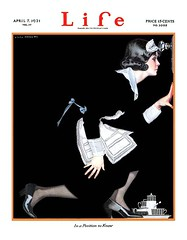 1921 - In A Position To Know (clotho98) Tags: life 1920s white black girl illustration vintage magazine uniform phillips away ephemera cover doorknob fade kneeling maid 1921 coles 1900s fadeaway colesphillips shillhouette inapositiontoknow