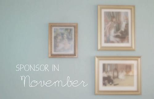 Sponsor in November