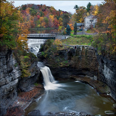 Triphammer Falls (Mike Orso) Tags: autumn ny newyork fall canon campus landscape waterfall october university cornell ithaca fingerlakes bastards photomo triphammerfalls 5dmarkii mikeorso