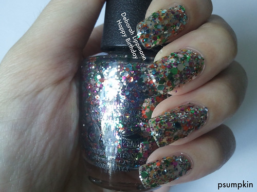 OPI Rainbow Connection with DL Happy Birthday (Shown)