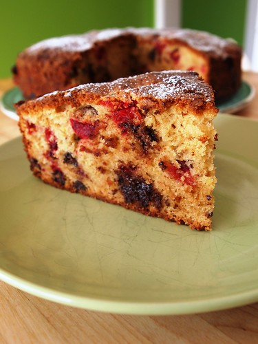 Cranberries Chocolate Chips Cake