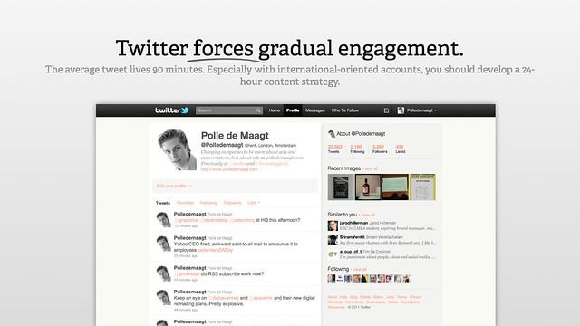 Twitter forces gradual engagement