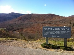 Graveyard Fields Sign