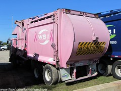 WSI Autocar WX / McNeilus FEL - 170817 (FormerWMDriver) Tags: pink trash truck garbage breast cancer front collection rubbish end fl waste refuse awareness loader load sanitation wsi fel frontloader wx autocar frontload mcneilus wasteservices wasteservicesinc progressivewastesolutions wasteservicesofflorida