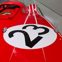 23 wins again! (suridaj) Tags: red car wheel museum automobile stuttgart stripes exhibition porsche short oldtimer 23 1970 coupé 917 sportscar automobil flickrduel shortcoupé