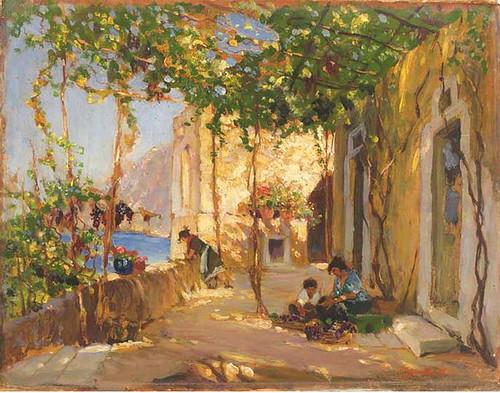 Sorolla y Bastida, Joaquin (Spanish,  1863-1923) -  Neapolitan Scene  - 1886