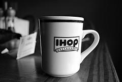 (midnightsummers) Tags: blackandwhite cup coffee nikon tea mug ihop d3000
