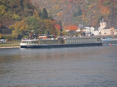 cruise vessel on the river rhine