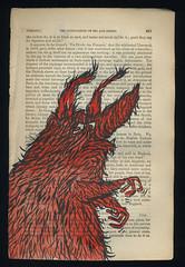 Vie Privee (Monster Kat) Tags: hairy monster vintage watercolor fur book furry cyclops recycle penink