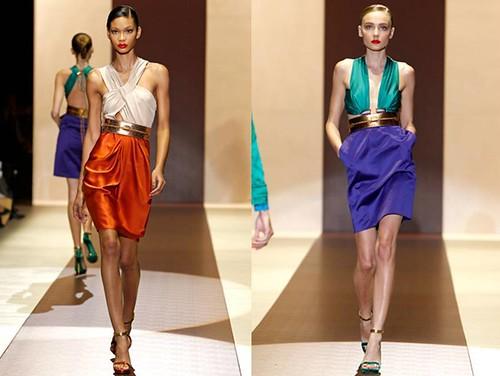 Gucci-Primavera-Verano-2011-naranja-turquesa