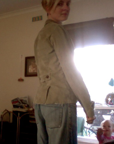 Jacket from the back. $5