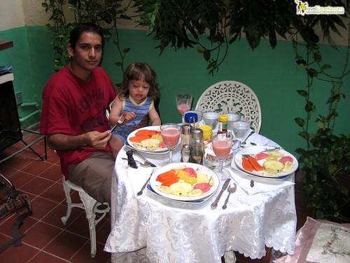 breakfast at casa particular - havana centro cuba