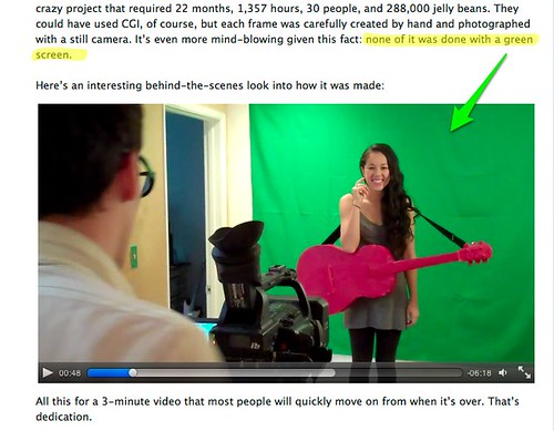 No Green Screen? Really?