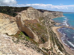 Kensington cliffs , Cyprus (-Filippos-) Tags: sea coast mediterranean cyprus cliffs kensington kypros   episkopi
