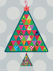 Festive Fun Wall Hanging (Spellstone) Tags: christmas xmas red colour green art design artist folkart advent pattern colours calendar bright stripes stripe craft spot surfacedesign textile spots fabric cotton colourful 2011 textiledesign patterndesign fabricdesign alexmorgan spoonflower spellstone fabriccollections