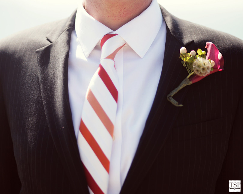 J Crew Wedding Tie and Steven Moore Boutonniere