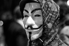 V #1 (Sean Batten) Tags: uk england bw london protest parliament v vforvendetta anonymous guyfawkesmask