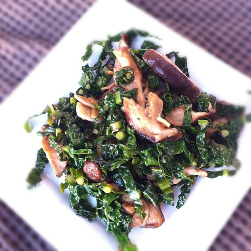 #shiitake #mushrooms and #kale