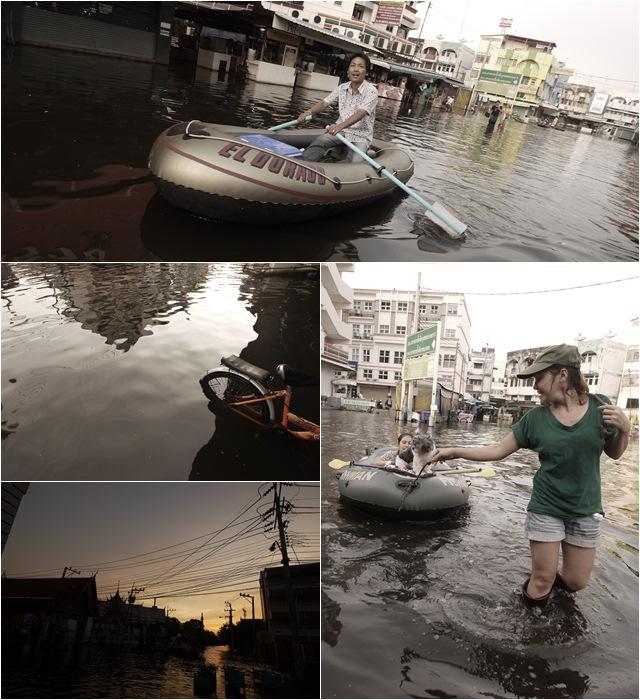 น้ำท่วมตลาดรามอินทรา 8-11-54