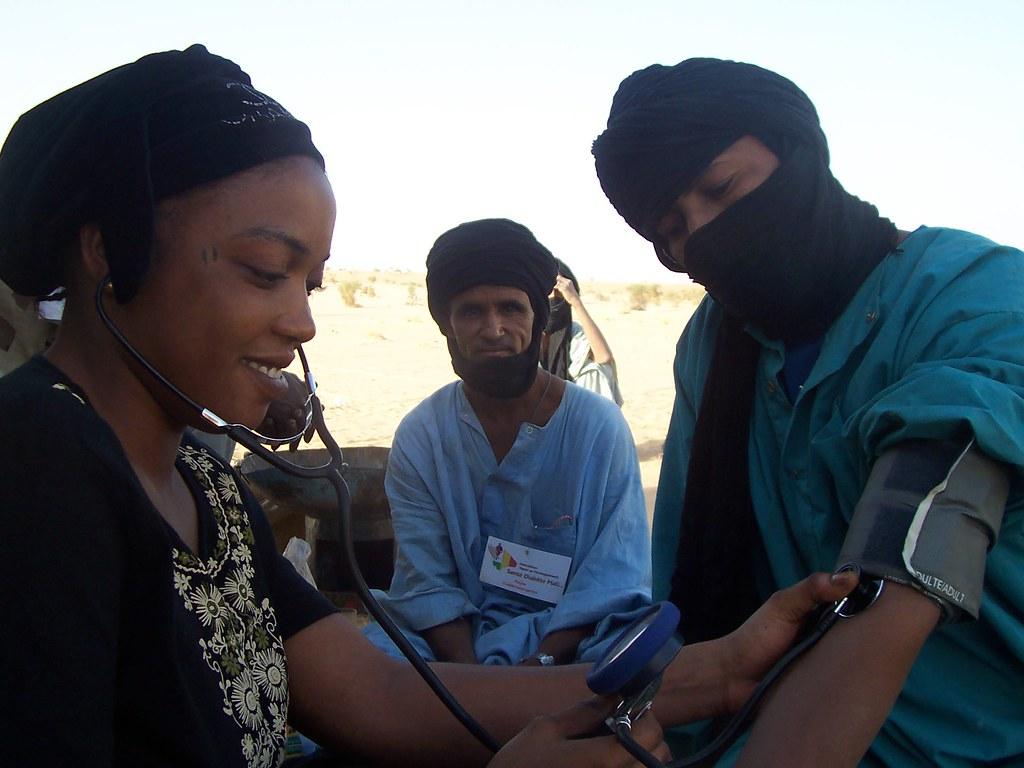 dépistage du diabète dans le cadre de l'enquête de prévalence du diabète hypertension en zone nomade menée par Santé Diabète Mali en partenariat avec AVSF-ADESAH